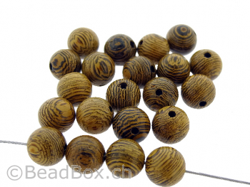 African Sennawood, Color: brown, Size: ±8mm, Qty: 20 pc.