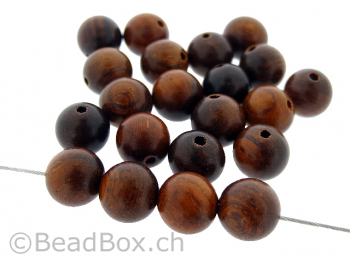 Burmese Rosewood, Color: brown, Size: ±8mm, Qty: 20 pc.