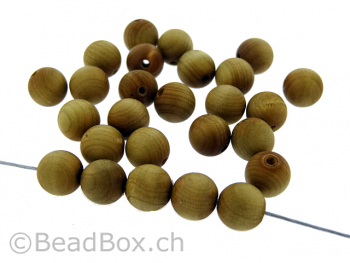 Cypresswood, Color: brown, Size: ±8mm, Qty: 20 pc.