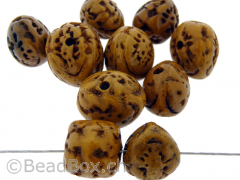Bodhi Seed, Color: brown, Size: ±17x16mm, Qty: 2 pc.