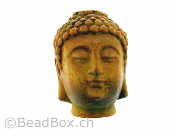 Buddha Wood, Color: brown, Size: ±34x28mm, Qty: 1 pc.