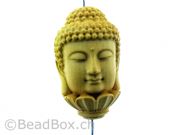 Buddha Wood, Color: brown, Size: ±33x20mm, Qty: 1 pc.