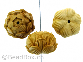 Water Lily Wood, Color: brown, Size: ±17x24mm, Qty: 1 pc.
