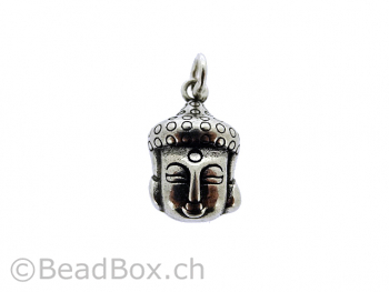 Silver Pendant Buddha, Color: SILVER 925, Size: ±21x12x6mm, Qty: 1 pc.
