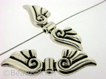 Wing, Color:Old Silver, Size: ±44x14mm, Qty: 1 pc.