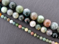 "Indian Agat, Semi-Precious Stone, Color: multi, Size: ±4mm, Qty: 1 string 16"" (±91 pc.)"